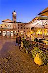 Italy, Italia. Latium, Lazio. Roma district. Rome, Roma. Trastevere. Santa Maria in Trastevere at night.