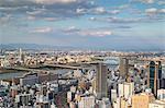 View of Osaka, Kansai, Japan