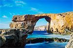 Mediterranean Europe, Malta, Gozo Island, Dwerja Bay, The Azure Window natural arch
