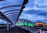 Europe, Scotland, Glasgow, Bell's Bridge, The Clyde Auditorium & The SSE Hydro