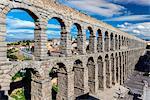 Roman aqueduct bridge, Segovia, Castile and Leon, Spain