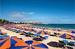 Beach, Playa de Cucharas, Costa Teguise, Lanzarote, Canary Islands, Spain