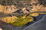 Crater lake Charco de los Clicos, El Golfo, Lanzarote, Canary Islands, Spain