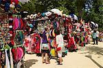 Souvenirs, market stalls in Sevilla, Andalusia, Spain