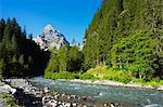 Europe, Switzerland, Swiss Alps Jungfrau-Aletsch Unesco World Heritage site, Berner Oberland Alpine Pass Route between Meiringen and Grindelwald, Klein Wellhorn (2701m)