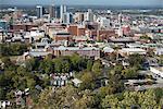 USA, Alabama, Birmingham, Aerial view of city
