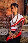 Nepali woman in traditional dress