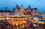 Christmas Market in Romerberg, Frankfurt, Germany, Europe