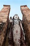 Standing Buddha, Wat Mahathat, Sukhothai Historical Park, UNESCO World Heritage Site, Thailand, Southeast Asia, Asia