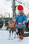 Ethnic Sami people at winter festival, Jokkmokk, Lapland, Arctic Circle, Sweden, Scandinavia, Europe