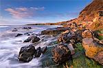 Rocky coastline at Cullernose Point on the Northumberland coast, Northumberland, England, United Kingdom, Europe