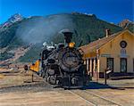 Railway Station for Durango and Silverton Narrow Gauge Railroad, Silverton, Colorado, United States of America, North America