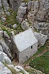St. Govan's Chapel, St. Govan's Head, near Pembroke, Pembrokeshire, Wales, United Kingdom, Europe