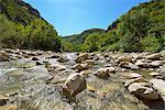River flow through Canyon