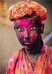 Holi Festival Celebrations in Mathura, Braj, Uttar Pradesh, India, Asia
