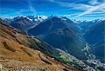 View at Bernina range from Segantini hut
