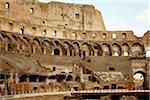 Interior of the Colosseum, ancient Rome, amphitheatre built 72-80 AD, Rome, Lazio, Italy