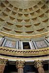 Interior of Dome in Pantheon, Rome, Lazio, Italy