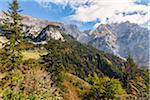 View from Hiking Trail in Autumn, Wilder Kaiser, Kaiser Mountains, Tyrol, Austria
