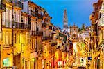 Porto, Portugal cityscape towards Clerigos Church.