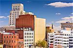 Durham, North Carolina, USA downtown cityscape.