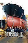 Portrait of workers at shipyard, GoSeong-gun, South Korea