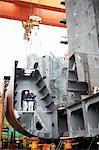 Workers at shipyard, GoSeong-gun, South Korea