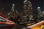 Downtown Los Angeles, long exposure, California, USA