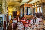 State Bedroom, Penrhyn Castle, Llandegai, Bangor, Gwynedd, Wales, United Kingdom