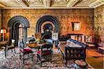 Ebony room, Penrhyn Castle, Llandegai, Bangor, Gwynedd, Wales, United Kingdom
