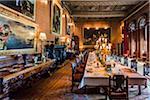 Dining room, Penrhyn Castle, Llandegai, Bangor, Gwynedd, Wales, United Kingdom
