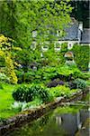 House with Garden, Bibury, Gloucestershire, The Cotswolds, England, United Kingdom