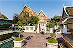 Potted Trees at Bhuddist Temple Wat Pho, Phra Nakhon District, Bangkok, Thailand