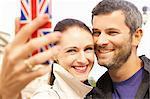 Smiling Couple Taking Selfie