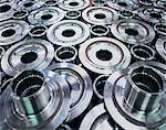 Steel parts in engineering factory
