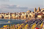 Beach, Cefalu, Palermo, Sicily, Italy