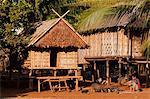 Camdodia, Ratanakiri Province, Phomkres village, family next to the fireplace