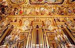 France,Paris. 9th district. Palais Garnier, Paris Opera. The Grand Foyer. View the colonnades.