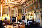 France, Haute Normandie, Seine Maritime (76), Eu, Eu castle, (Louis Phillipe museum) golden bedroom