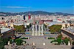 Spain, Barcelona. Maria Cristina Queen avenue and magic contain.