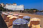 France, Biarritz, the beach.