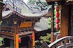 Ornate pavilion at Luohan Si Arhat Temple, Chongqing, China