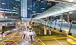 Traffic and elevated walkways, Hong Kong, China
