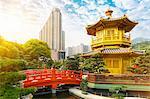 Pagoda and pavilion, Nan Lian Garden, Diamond Hill, Hong Kong, China