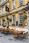 Restaurant and sidewalk patio, Bath, Somerset, England, United Kingdom