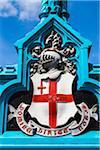 Detail of Coat of Arms on Tower Bridge, London, England, United Kingdom