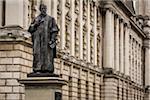 Statue of Sir Daniel Dixon, Belfast City Hall, Belfast, County Antrim, Northern Ireland, United Kingdom
