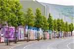 Peace Line, Protestant Loyalist Area, Belfast, Northern Ireland, United Kingdom