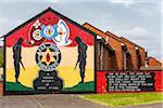 Red Hand Commando Wall Mural, Protestant Loyalist Area, Belfast, Northern Ireland, United Kingdom