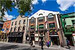 Street scene, Temple Bar square, Cultural Quarter, Dublin, Leinster, Ireland